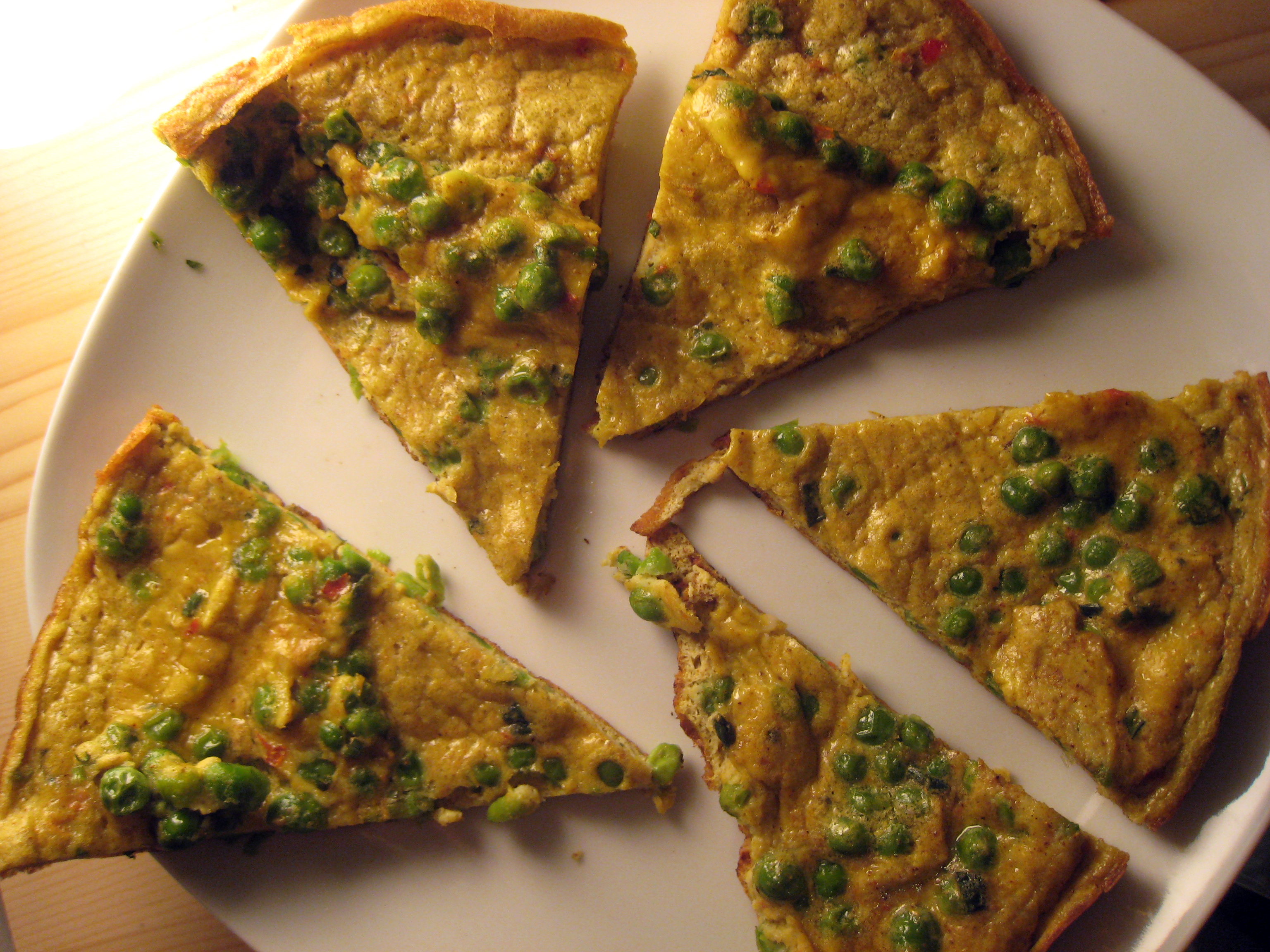 curry frittata wide