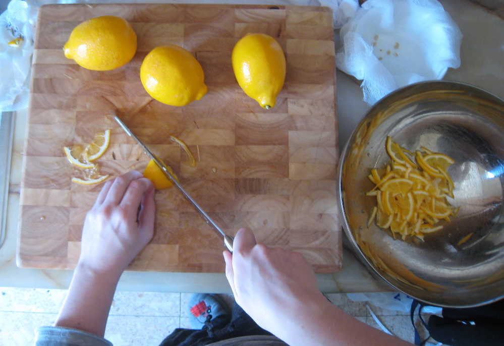 Making Meyer Lemon Marmalade