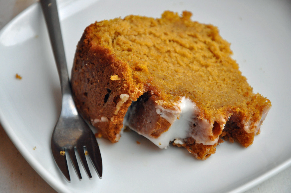 Pumpkin Bundt Cake with Buttermilk Icing